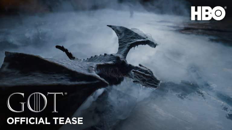 Nouvelle Bande annonce de Game of Thrones Saison 8 montrant le Drogon & Arya 2