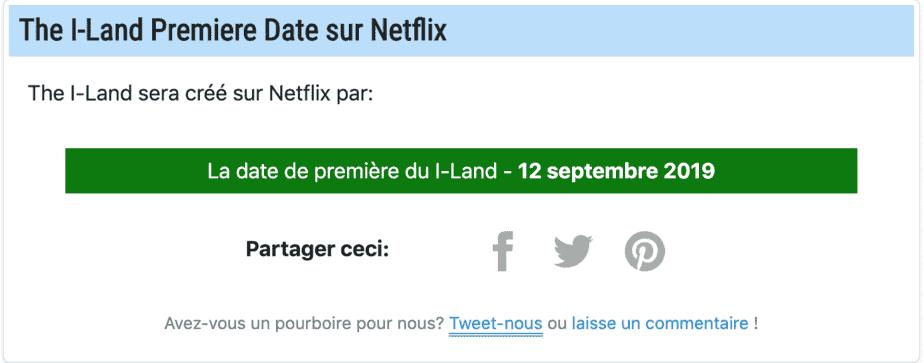 Quand est-ce que The I-Land alias Lost démarre sur Netflix? Date de sortie 2