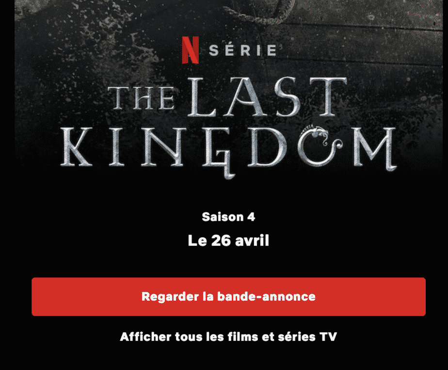 Disponible dimanche 26 avril 2020 The Last Kingdom Saison4 - Netflix 2
