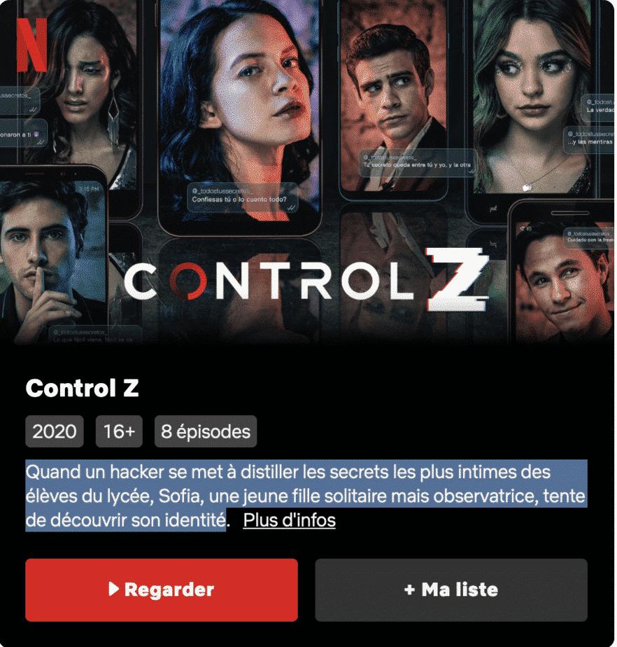 Control Z Disponible sur Netflix 2