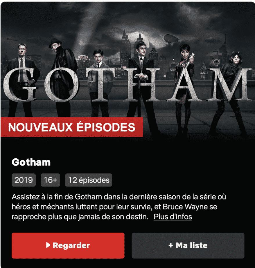 Gotham Saison5 est disponible sur Netflix 2