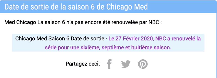 NBC a-t-elle renouvelé la saison 6 de Chicago Med ? Statut du renouvellement et nouvelles 2